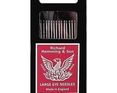 Richard Hemming Milliners Needles - Sizes 7 - 10 count - Long, thin needles great for hand sewing on bags, quilts, hats - Hand Sewing