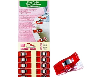 Clover Wonder Clips - 10 ct. - Color red