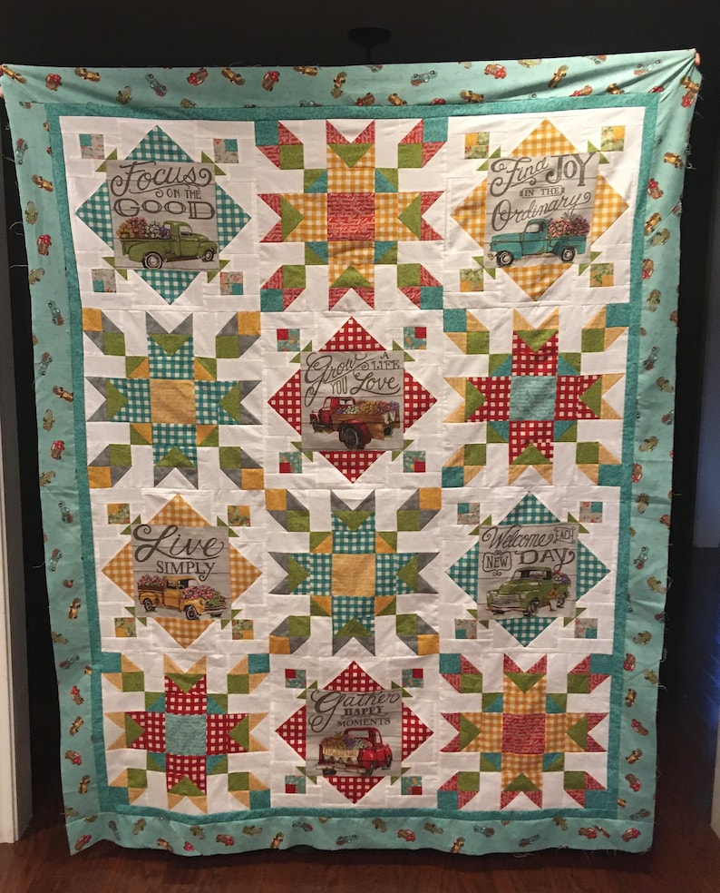 Cruisin' Thru the Meadow Quilt Kit by Deb Strain for Moda image 0