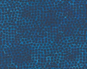 """Moda Fabric - Starflower Christmas by Create Joy Project - 8485 15- Cotton Fabric - blue with navy/black dots - 44"""" wide - 1/2 yard"""
