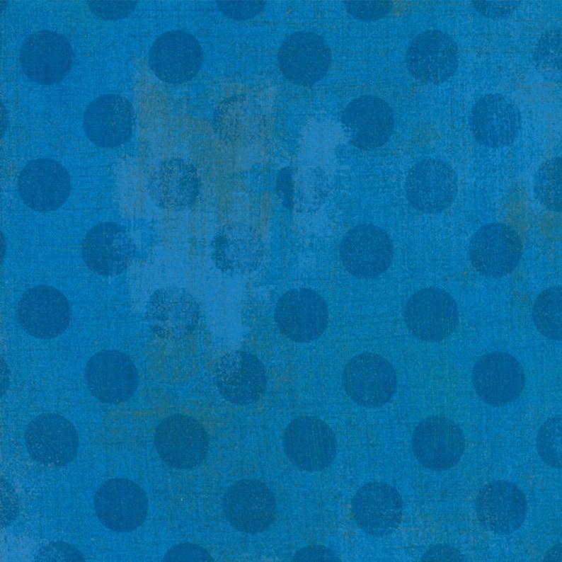 Moda Fabric  Grunge Hits the Spot  Sapphire color  1/2 yard image 0