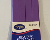 Extra Wide Double Fold Bias Tape - by Wrights  - 1/2 inch - 55 Polyester/45 Cotton - Purple 206 064