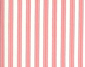 Moda Fabric - A Blooming Bunch - Maureen McCormick - 1/2 yard - 40045 31 - off-white with pink stripes - cotton fabric