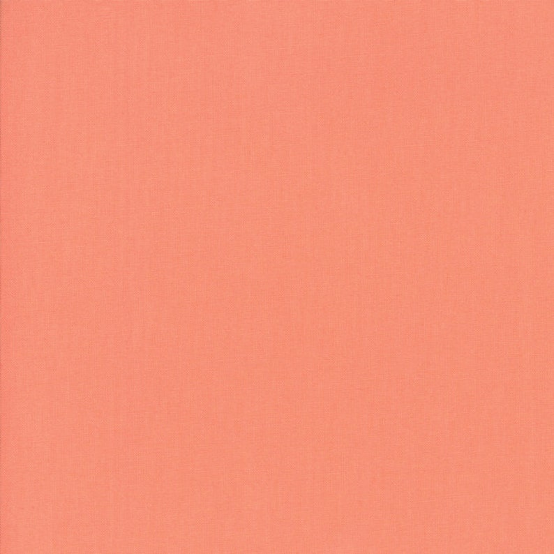 Moda Fabric  Bella Solids  Coral  1/2 yard  9900  147  image 0