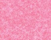 Moda Fabric - Marble Swirls Pink Sherbet - 9908 18- 1/2 yard - Pink with swirls - Cotton Fabric