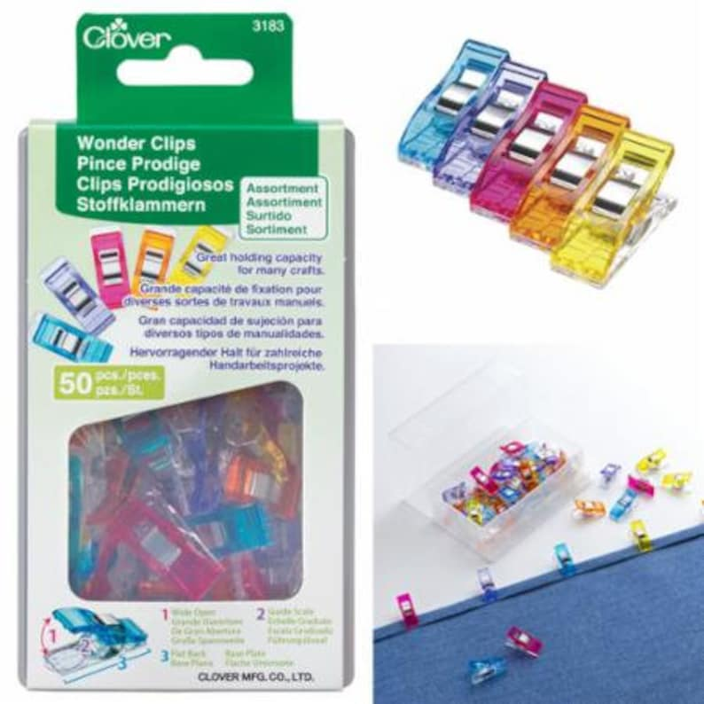 Clover Wonder Clips  50 ct.  Assorted Colors image 0