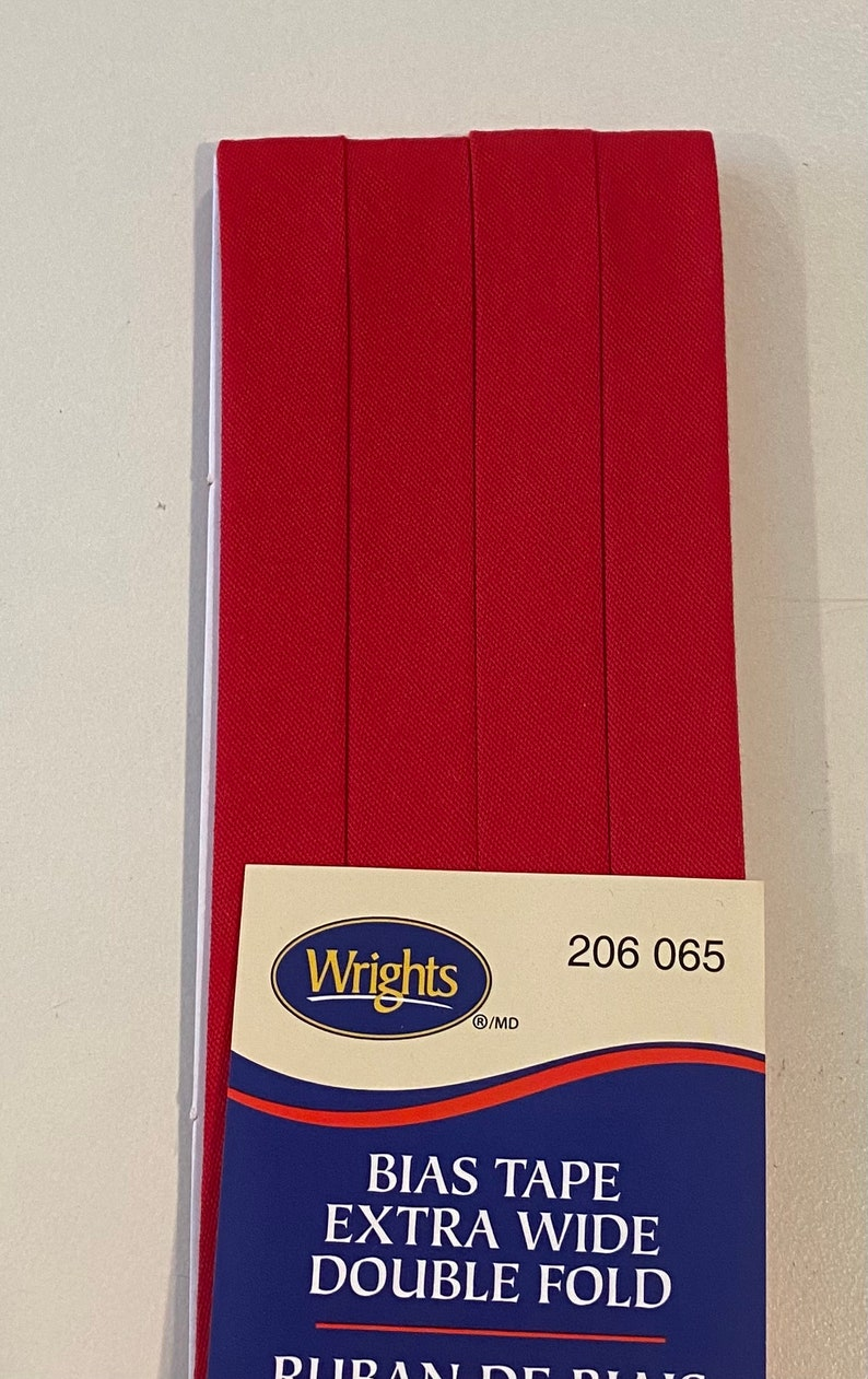 Extra Wide Double Fold Bias Tape  by Wrights   1/2 inch  55 image 0
