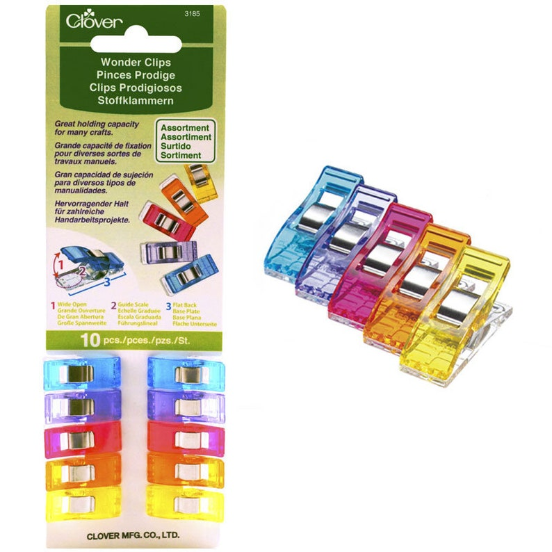 Clover Wonder Clips  10 ct.  Assorted colors image 0