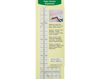 Clover Hot Ruler - Heat Resistant ruler guide for accurate hemming and pressing