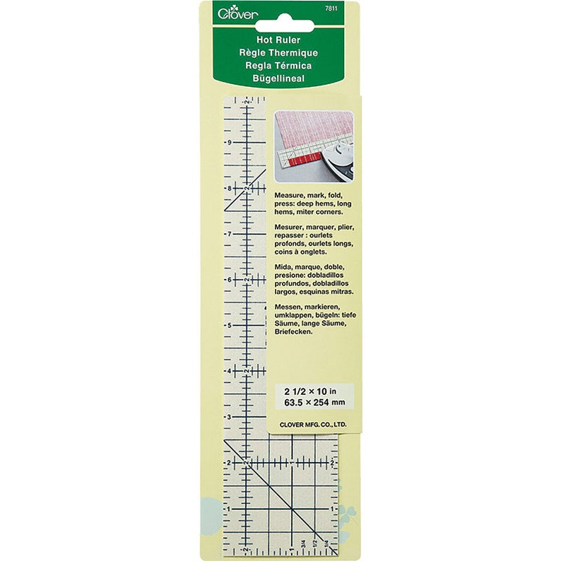 Clover Hot Ruler  Heat Resistant ruler guide for accurate image 0