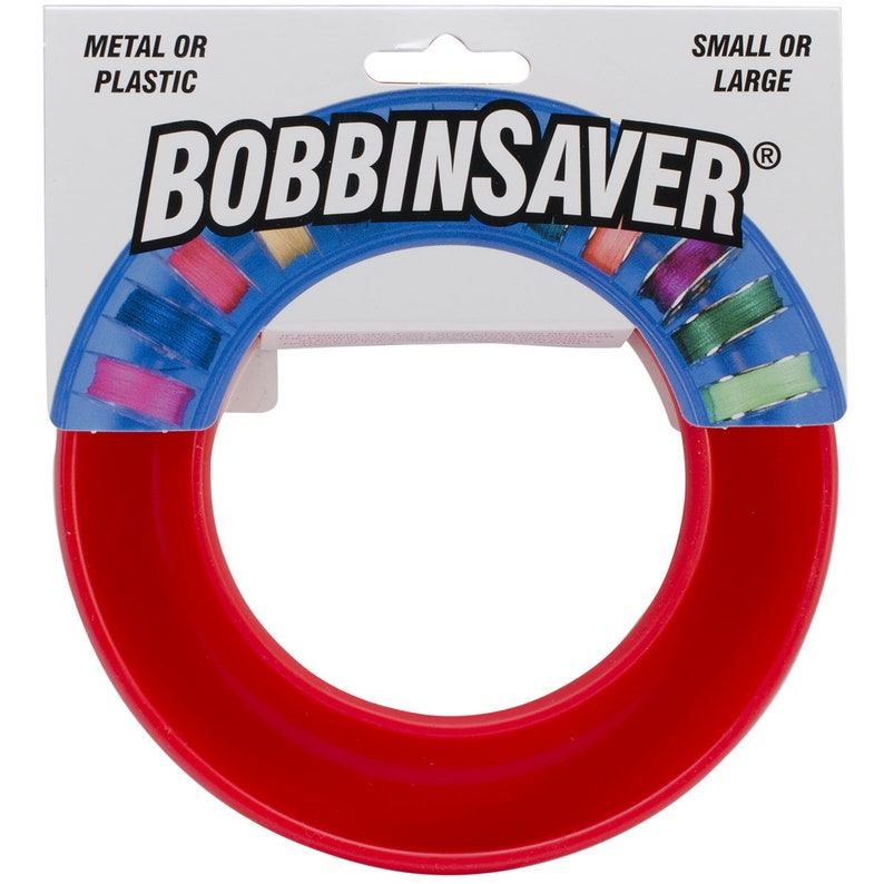 Bobbin Saver in red  by Grabbit  Holds 20 Bobbins image 0