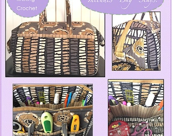The Tool Tote Pattern - by Penny Sturges of Quilts Illustrated - Paper Pattern and Metal Stays