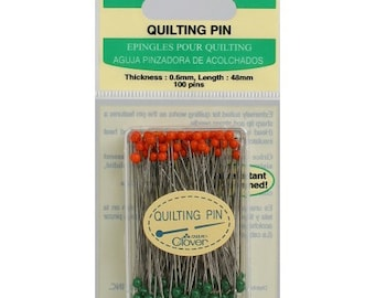 """Clover Glass Head Quilting Pins - 1 7/8"""" sharp straight pins - Very sharp - great for Quilt Piecing - Clover 2508"""