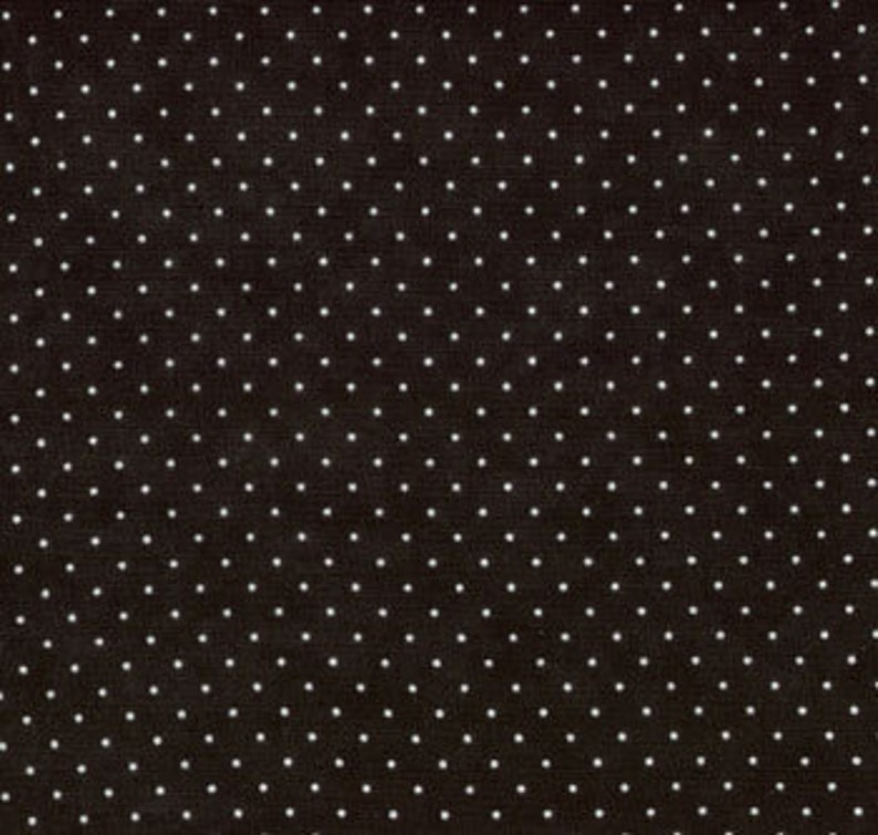Moda Fabric  Essential Dots  Jet Black color  1/2 yard   image 0