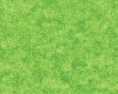 Moda Fabric - Marble Swirl - Lime Green - 1/2 yard - 9908 - 44 Lime Green with swirls - Cotton Fabric