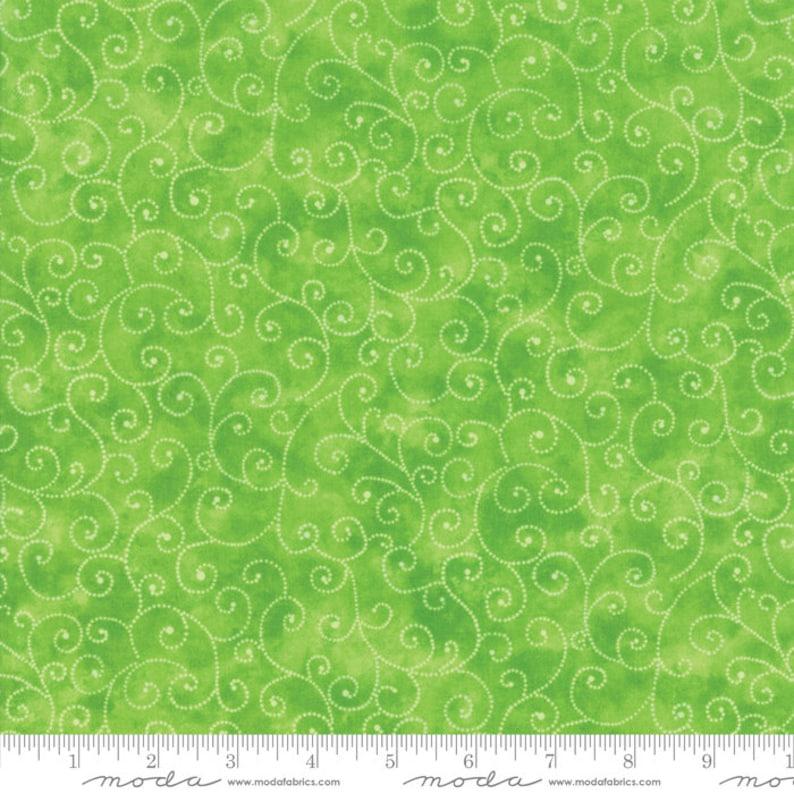 Moda Fabric  Marble Swirl  Lime Green  1/2 yard  9908  44 image 0