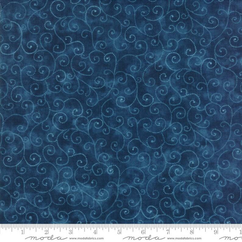 Moda Fabric  Marble Swirl  Stormy Sea Dark Blue  1/2 yard  image 0