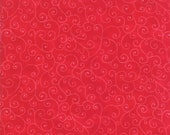 Moda Fabric - Marble Swirls Christmas Red - 9908 23 - 1/2 yard - 9908 -23 red with swirls - Cotton Fabric