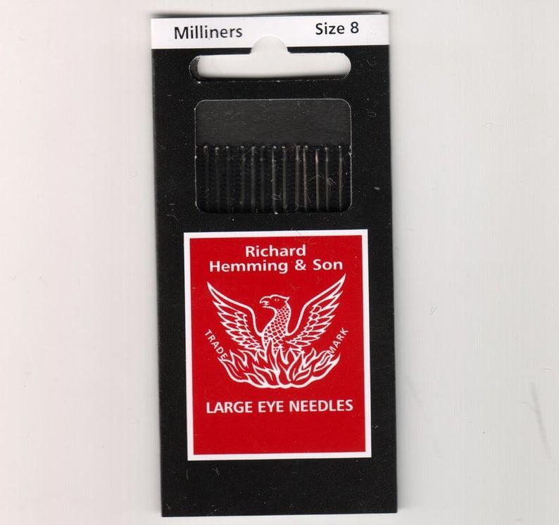 Richard Hemming Milliners Needles  Sizes 8  10 count  Long image 0