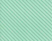 Moda Fabric - Strawberry Jam by Corey Yoder - 1/2 yard - 29066 - 28 Mint Green Diagonal print - Cotton Fabric