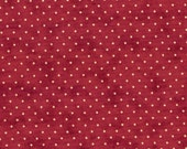 Moda Fabric - Essential Dots - Red color - 1/2 yard  - 8654 - 18 Red with cream dots - Cotton Fabric
