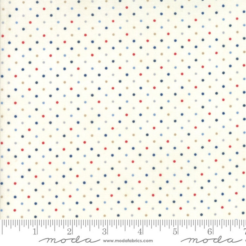 Moda Fabric  Essentially Yours Dots  Off white with image 0