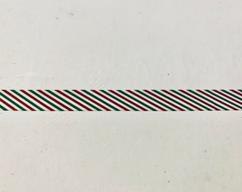 Red Stripes Deco Washi Tape 15mm Wide x 5M Roll No.12985