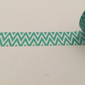 Light Blue Veritcal Stripes Planner washi tape sample 18\u201d