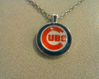 Chicago Cubs pendant on 20 1/4 inch Silver Necklace 249560