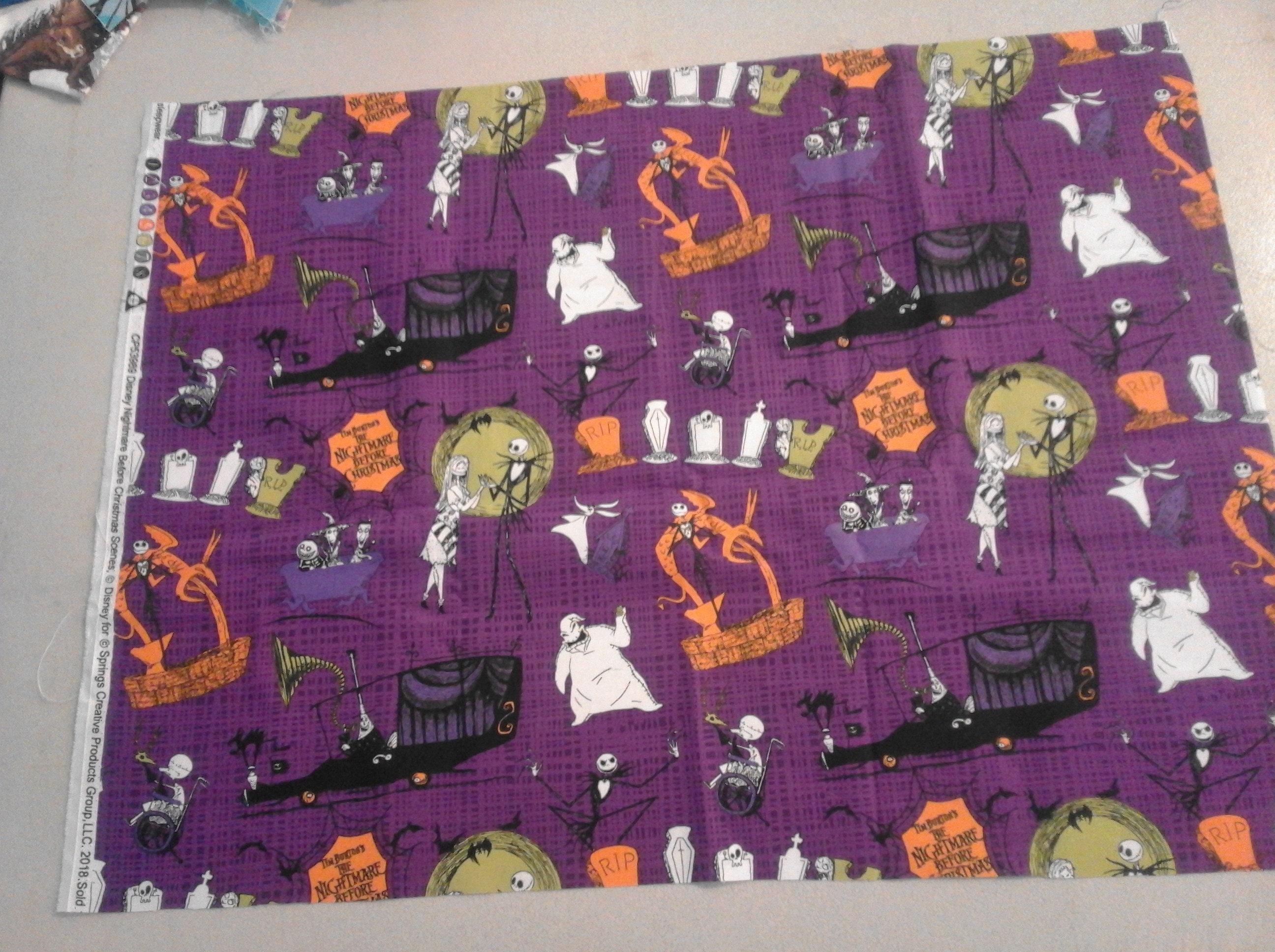 Nightmare Before Christmas Jack Sally Zero Fabric 251110 | Etsy