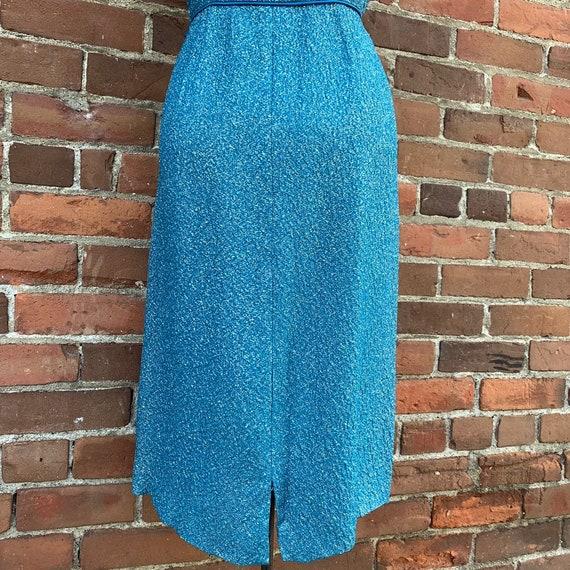 1950s Blue Lurex Dress VLV - image 4