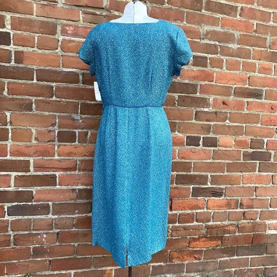 1950s Blue Lurex Dress VLV - image 6