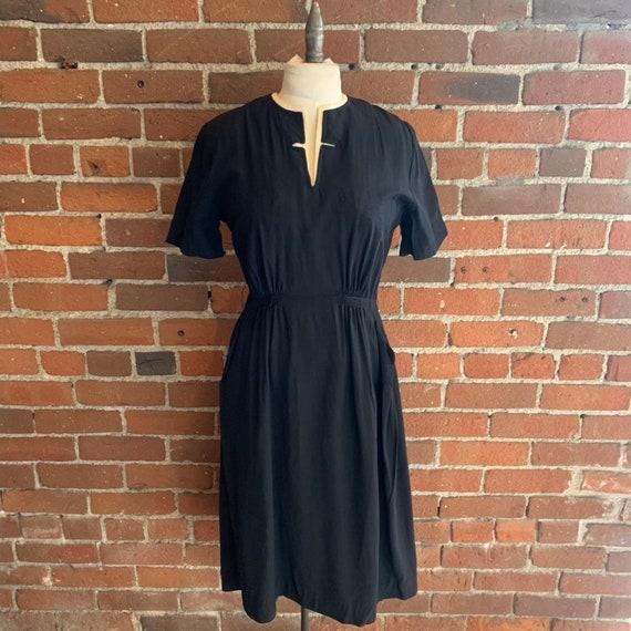 1950s Black and White Dress NOS VLV