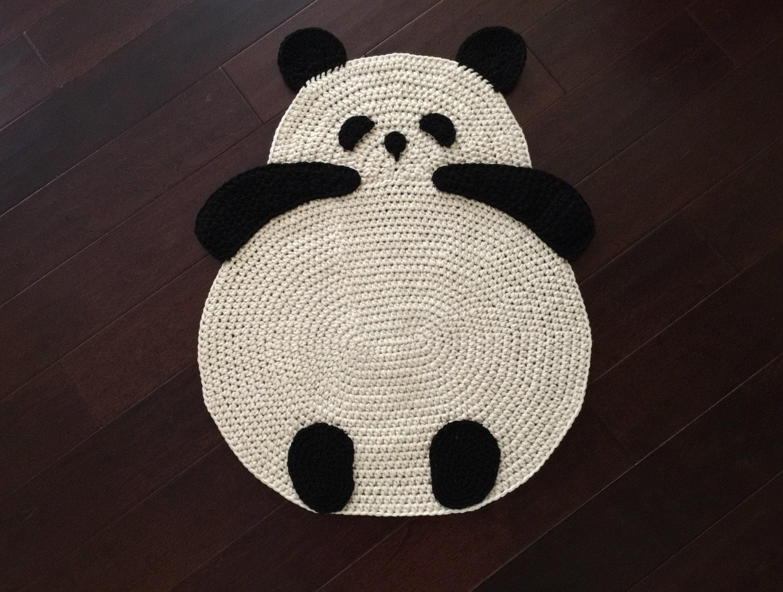 Panda-Teppich häkeln Panda Teppich Bodenteppich häkeln