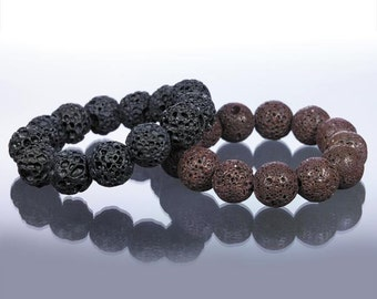 Brown or Black Lava Bracelet