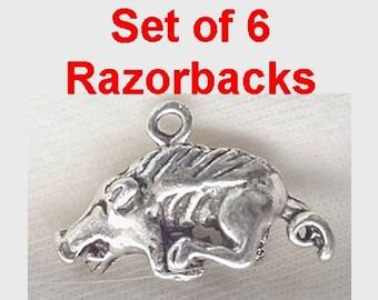 Pendant Razor Back Hog Charm Arkansas School Charm Wildlife Charm Hog Charm
