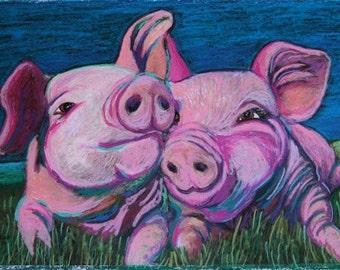 Moonlight Piggy Kisses
