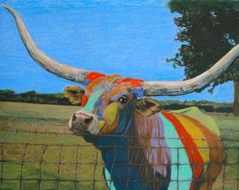 Texas Longhorn 16x20 Painting