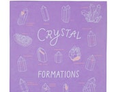 Crystal Formations Bandana - screen printed - 100% cotton - made in the USA - los angeles - california