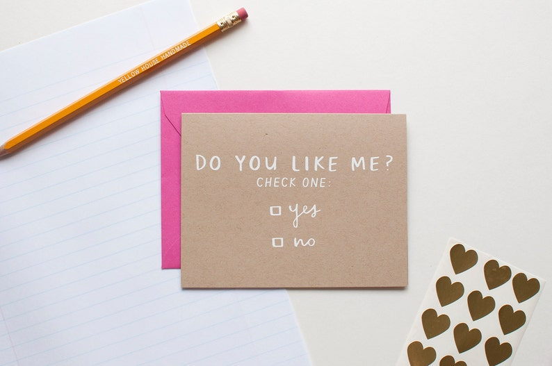 Do You Like Me Check One   Love Card  Valentine  image 0