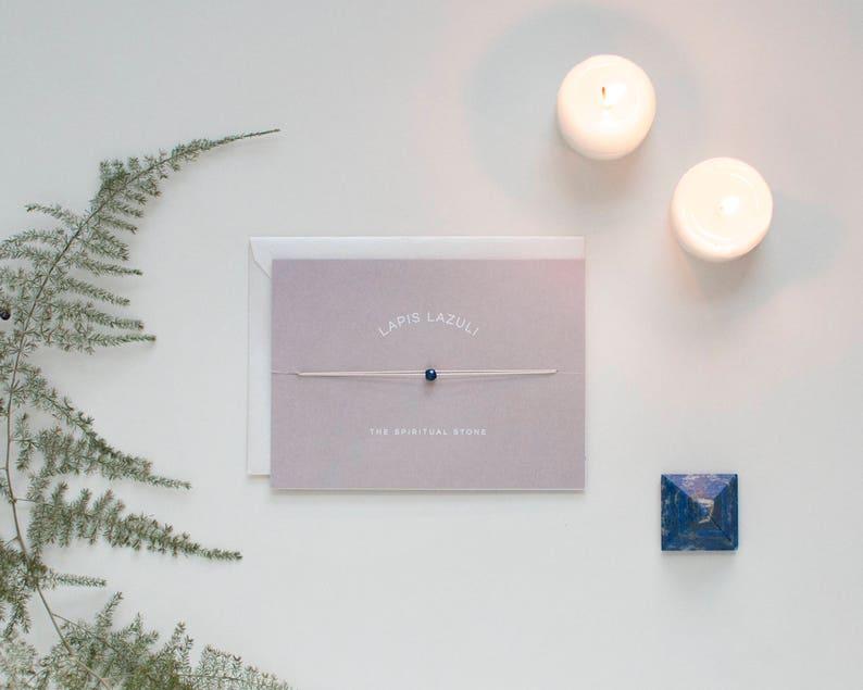 Lapis Lazuli Choker  Crystal Card  friendship necklace or image 0