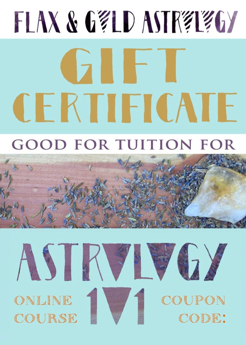 Astrology 101 Gift Certificate  Self-Study Track image 0