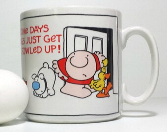 Ziggy Mug / 1985 Ziggy and Fuzz Coffee Cup / Some Days Just Get All Fowled Up Mug / 1985 American Greetings Mug