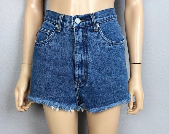90s Women's Ethyl Cutoff Shorts High Waisted Size 4/27 Frayed Hem 90s Clothing Epsteam