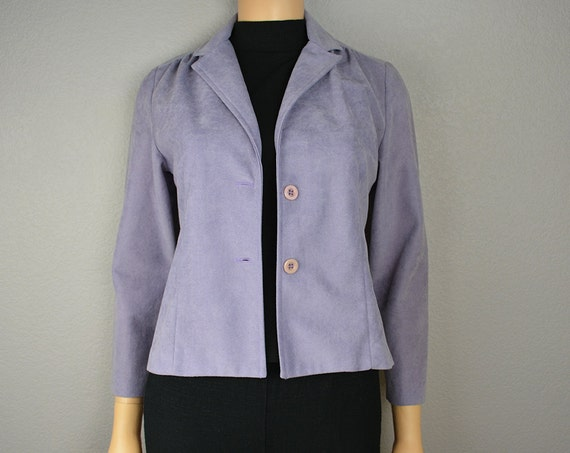 60s Lilac Jacket Purple Mod Blazer Size Small Three Quarter Length Sleeves 60s Clothing Epsteam