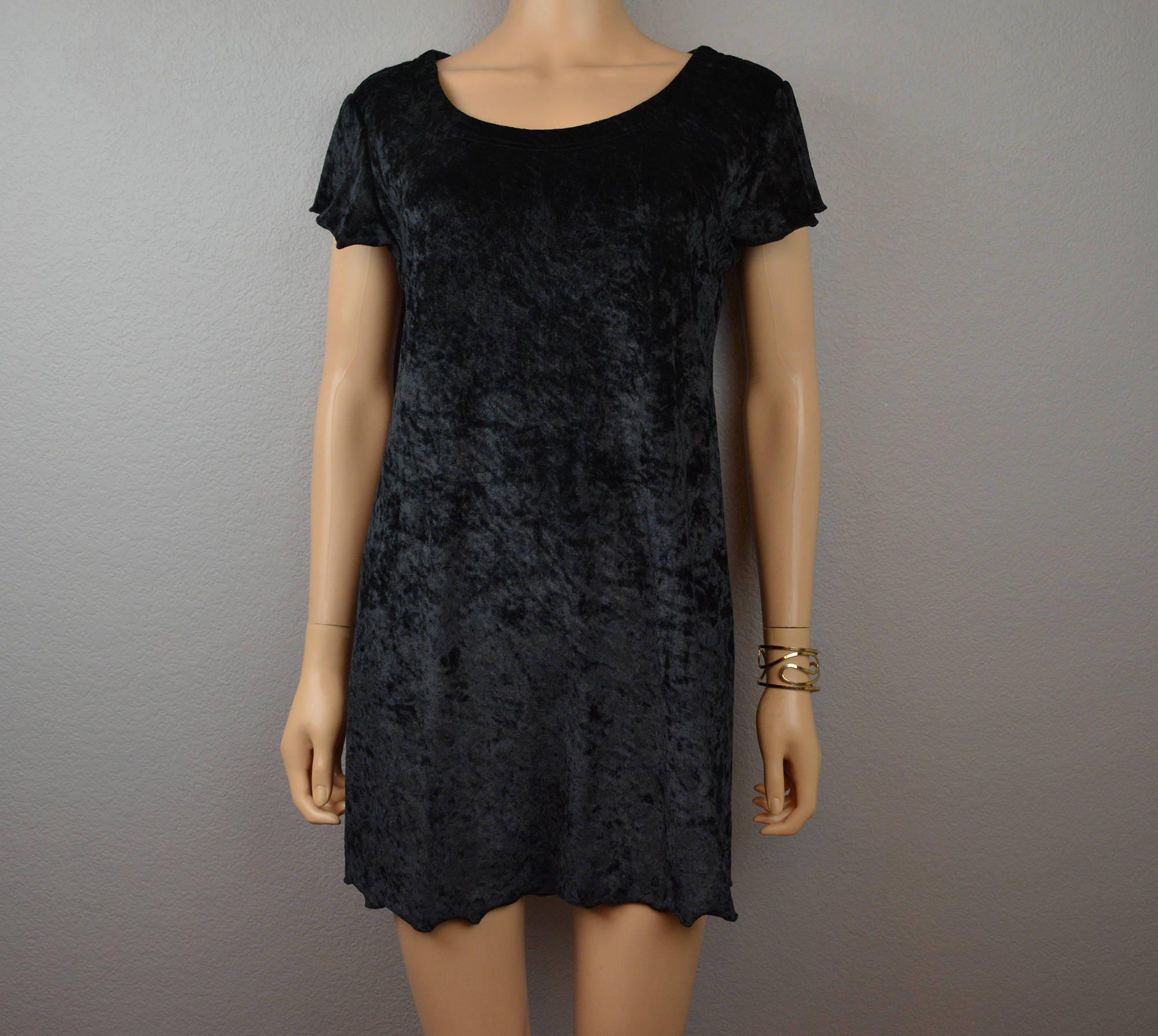 90s Victoria\'s Secret Nightgown Medium Gold Label Black Crushed ...