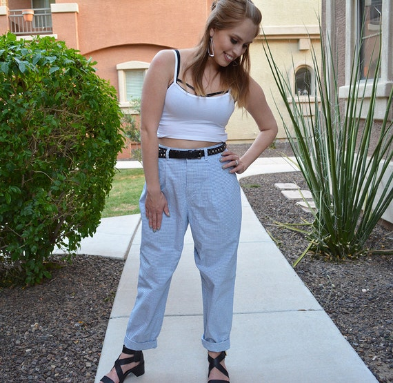 Lee Pants Tapered Trousers Baggy Pleated High Waisted Pants 8 Petite 80s 90s Clothing Epsteam