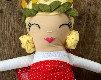 Saint Lucy / Saint Lucia / Handmade Doll / Heirloom doll / Saint Doll