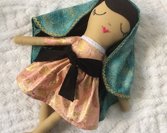 Our Lady of Guadalupe Doll / Cloth Doll / Catholic doll / Saint Doll