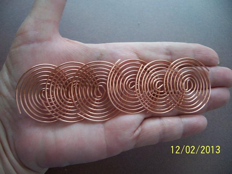 12 Large Copper Coils - 1 & 1/2 Inch Large SBB Coils for Orgone Making -  Radionics - Reiki Crystal Grid Work